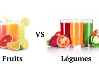 jus de légumes et jus de fruits